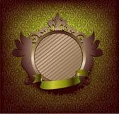 Medalhão com fita verde Imagens de Stock