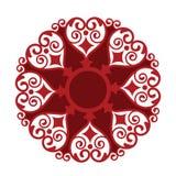 Medalhão da forma do coração ilustração stock