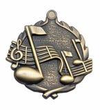 Medalhão da música Fotografia de Stock Royalty Free