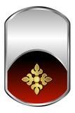 Medalhão de prata ilustração stock