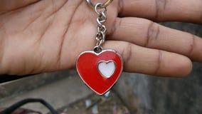 Medalhão do coração do amor Fotografia de Stock