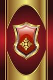 Medalhão dourado ilustração royalty free
