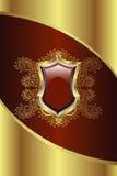 Medalhão dourado Fotografia de Stock Royalty Free