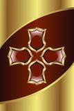 Medalhão dourado ilustração stock