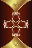 Medalhão dourado ilustração do vetor