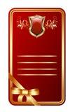 Medalhão vermelho ilustração stock