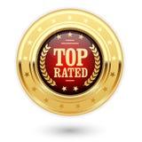 Medalha avaliado superior - insígnias da avaliação Foto de Stock Royalty Free