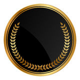 Medalha com louros do ouro Foto de Stock Royalty Free