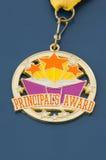 Medalha da concessão do principal dourado Fotografia de Stock Royalty Free