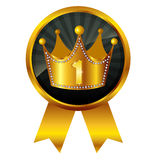 Medalha da coroa da coroa Fotos de Stock