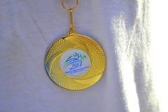 Medalha da maratona de Sófia Imagens de Stock