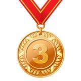 Medalha de bronze Imagens de Stock Royalty Free