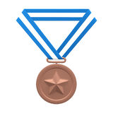 Medalha de bronze Foto de Stock Royalty Free