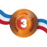 Medalha de bronze, concessão Fotografia de Stock Royalty Free