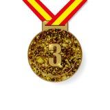 Medalha de bronze do terceiro lugar Foto de Stock