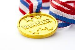 Medalha de ouro Fotografia de Stock Royalty Free