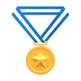 Medalha de ouro imagens de stock royalty free
