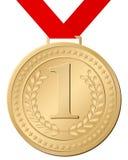 Medalha de ouro Fotos de Stock Royalty Free