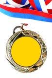 Medalha de ouro em branco Imagem de Stock