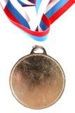 Medalha de ouro em branco Fotografia de Stock