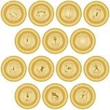 Medalha de ouro sport-4 Imagem de Stock