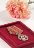 Medalha do aniversário Fotografia de Stock Royalty Free