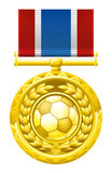 Medalha do futebol do futebol Foto de Stock Royalty Free