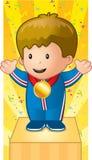 Medalha do miúdo Fotografia de Stock