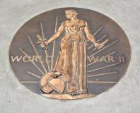 Medalha do monumento da segunda guerra mundial Fotos de Stock