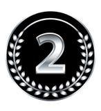 Medalha do número dois Foto de Stock
