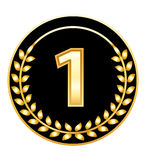 Medalha do número um Fotografia de Stock Royalty Free