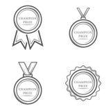 Medalha do prêmio do campeão Fotografia de Stock Royalty Free