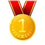 Medalha dourada Fotografia de Stock Royalty Free