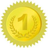 Medalha dourada ilustração royalty free