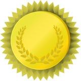 Medalha dourada com louro ilustração stock