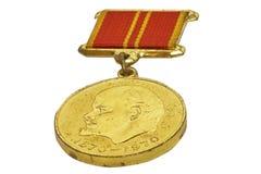 Medalha dourada de Lenin Imagem de Stock