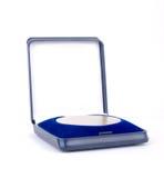 Medalha dourada em uma caixa azul Imagens de Stock