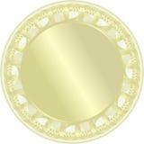 Medalha dourada. Vetor Fotos de Stock Royalty Free