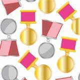 Medalha e teste padrão da ordem Fotografia de Stock Royalty Free