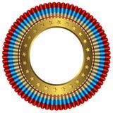 Medalha grande com anel dourado ilustração royalty free