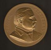 Medalha inaugural de Grover Cleveland Imagens de Stock
