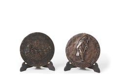 Medalha o quarto centenário da morte de St Teresa Ano 1982 Imagem de Stock Royalty Free
