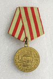 Medalha para a defesa de Moscou Fotos de Stock Royalty Free