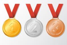 Medalhas ajustadas da concessão Foto de Stock