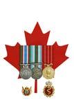 Medalhas canadenses foto de stock