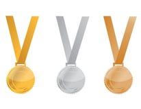 Medalhas da concessão ilustração do vetor