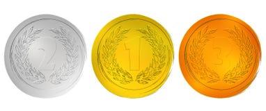 Medalhas da concessão Fotografia de Stock