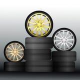 Medalhas da roda - vetor Fotos de Stock