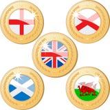 Medalhas de Reino Unido Imagem de Stock