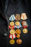 Medalhas do aniversário de uma vitória na guerra Imagem de Stock Royalty Free